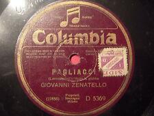 78 GIRI GIOVANNI ZENATELLO canta PAGLIACCI & CAVALLERIA RUSTICANA autografato