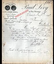 """PARIS (III° & X°) LITS en CUIVRE & LAINE à MATELAS """"Paul LEVY"""" en 1891"""