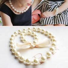 Parure Enfants Fille Princesse Bébé Enfant Perles Collier Bracelet Noeud Bijoux