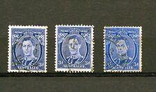 Australia #170 X (3) (AU639) King George VI, 3 pence Ultramarine, U, CV$72.00