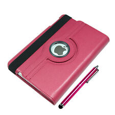 PU Leather Case Smart Back Cover 360 Rotating Stand + Stylus for iPad mini 1 2 3
