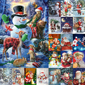 Christmas Full Drill 5D Diamond Painting Santa Claus Embroidery Cross Stitch Kit