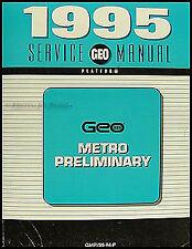 1995 Geo Metro Preliminary Repair Shop Service Manual Original OEM Book