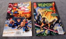 2 Marvel X-Men Weapon X Comic Books Vol. 1 No. 1 March, Vol. 1 No. 2 April 1995