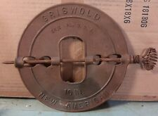 """10"""" CAST IRON GRISWOLD AMERICAN REVERSIBLE DAMPER STEEL SPINDLE"""