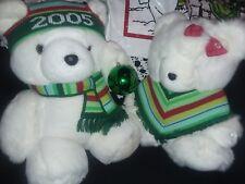 Marshall Fields Santa Bear Mr, & Mrs. Santa Bear Included Bags 2005