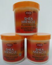 African Pride Shea Butter Miracle Moisture Bouncy Curls Pudding three (3) 15 oz