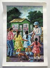 Wichie Torres, Snow Cone Vendor (Piragua) Serigraph '10, Ponce, Puerto Rico Art