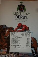 Official 2016  Kentucky Derby 142th PROGRAM  W/ Result Ticket