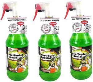 3 x TUGA CHEMIE Alu-Teufel Spezial Felgenreiniger-Gel grün je 1L, gesamt 3 Liter