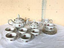 BAVARIA KRONESTER servizio tea te da 6 porcellana con decorI anni 50 dorati