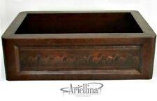 "36"" Ariellina Farmhouse 14 Gauge Copper Kitchen Sink Lifetime Warranty AC1917"
