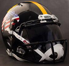IOWA HAWKEYES FLAG/ANF NCAA Gameday REPLICA Football Helmet w/ OAKLEY Eye Shield
