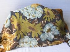 Elaine gold 100% polyester made in Italy floral scarf