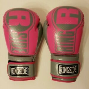 Ringside Boxing Apex Fitness Bag Gloves, Women's Size S/M, Color Pink/Gray