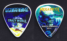 Scorpions Megadeth Guitar Pick - 2017 Crazy World USA Tour