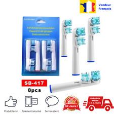 Lot ou pack oral-B 8 têtes de brosse à dents électrique brossettes rechange Dual