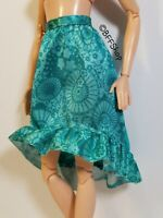 MATTEL TURQUOISE RUFFLES SKIRT FASHIONISTAS BARBIE FASHION CLOTHES