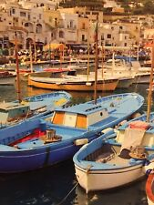 "Ceaco 300 Oversized Piece ""Santorini Greece""  Town City Puzzle W/ Poster 24""x18"""