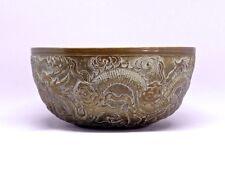 Antique Chinese Dragon Broze Bowl