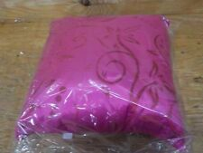 Rizzy Home T04470 Embroidery Decorative Pillow, 18 by 18-Inch, Hot Pink
