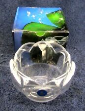 NEW Vtg ROYAL COPENHAGEN LOTUS Glass PETAL BOWL Denmark BY TORBEN JORGENSEN NOS