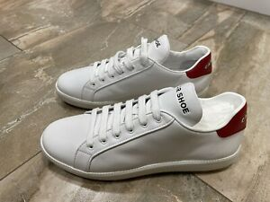 Genuine Car Shoe White Leather Trainers By Prada size UK6 EUR39