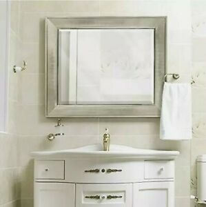 Headwest 8013 Pave Wall Mirror in Brush Nickel  29x35
