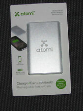 NEW Atomi Charge Card 2500mAh Rechargeable Battery Bank AT726 Cell or Tablet +