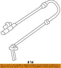 CHRYSLER OEM 15-17 200 ABS Anti-lock Brakes-Front Speed Sensor 68160057AC