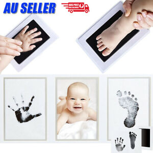 Baby Hand Footprint Photo Frame Kit Pet Safe Inkless Wipe Newborn Print Gift New