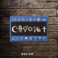 COEXIST Flag Embroidered Iron On Sew On Patch Badge For Clothes Etc