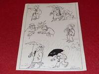 [Comic Zeichnung Humor Presse] Metall / Bogen Original- Comic Signiert ca1960