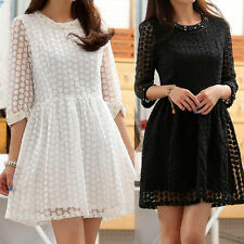 Chiffon Short/Mini 3/4 Sleeve Floral Dresses for Women