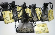 6 x Fools Gold /Pirates Gold (Iron Pyrite) in black organza bag - party gift 2