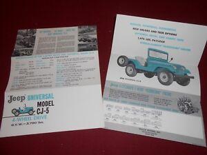 1960 JEEP CJ-5 UNIVERSAL, ORIGINAL FOLDER, BROCHURE, 60 WILLYS JEEP CATALOG