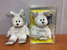 Skansen Beanie Kids - Comet the Reindeer Bear -  Rare Factory Error
