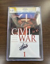 🔥CIVIL WAR #1 SIGNED BY STAN LEE CGC SS GRADED 9.8 WP 2006🔥 Signature Series