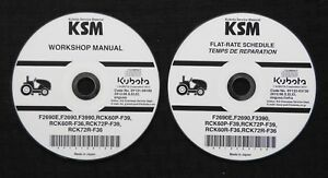 GENUINE KUBOTA F2690E F2690 F3390 FRONT MOWER TRACTOR SERVICE REPAIR MANUAL CD