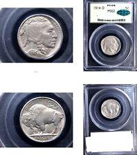 1914-D 5C MS62 PCGS/CAC- Buffalo Nickel---