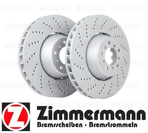 Set of 2 FRONT Brake Rotors  BMW E60 M5  M6 E63 E64  NEW Zimmermann