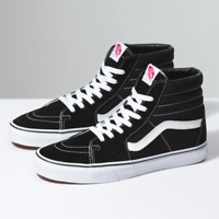 New Vans Men Women Shoes SK8 Hi Black White Canvas Suede Skateboard Sneaker