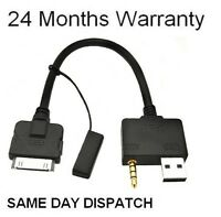 Hyundai Kia iPod Audio Cable Aux USB Interface Adapter Lead iPhone 4 4S Touch