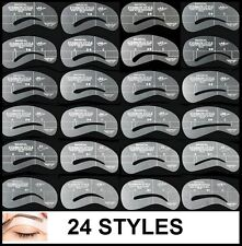 24 Style Eyebrow Stencil Grooming Shaper Liner Kit Template Make Up Shaping Tool