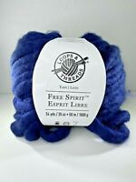 Loops & Threads Yarn Free Spirit Jumbo 35 Ozs Navy Blue 54 Yards Color 07 New