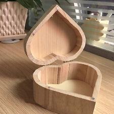 Heart-Shaped Wooden Storage Wood Packaging Love Muhe Jewelry Valentine Gift Box