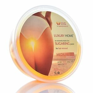 """Sugaring paste """"MEDIUM"""" 12oz, ALL PURPOSE paste for hair removal """"Luxury HOME"""""""