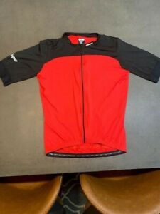 Attaquer Mens Short Sleeve Cycling Jersey - Red and Black