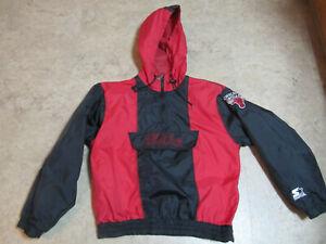 Vintage Youth Boys Starter Chicago Bulls Windbraker Rain Jacket Size M Medium