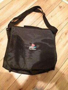 Vintage Retro Official PlayStation Black Travel Bag Carry Case Shoulder Bag